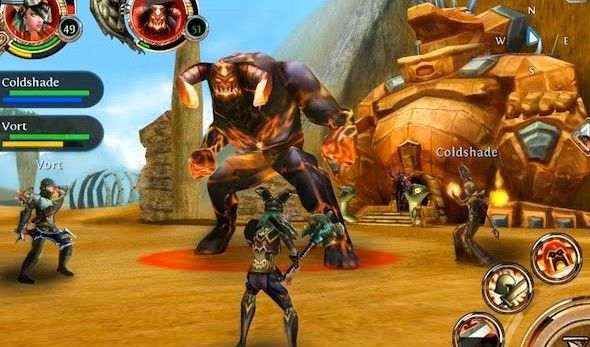 mobile-mmorpg-mmo-games-order-and-chaos-online-boss-battle-screenshot