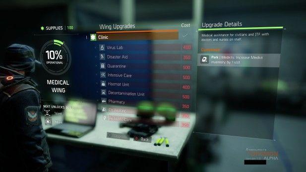 Tom Clancy's The Division Screenshot Leaked Alpha Interface