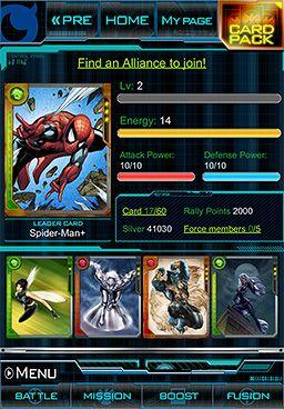 Mobile Marvel War of Heroes tcg