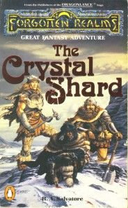 "The original cover of ""The Crystal Shard"" by R.A.Salvatore"