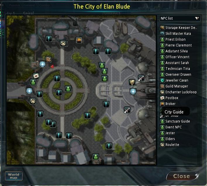 Divine Souls City Map