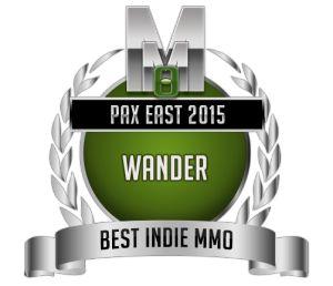 Best Indie MMO - Wander - PAX Medal
