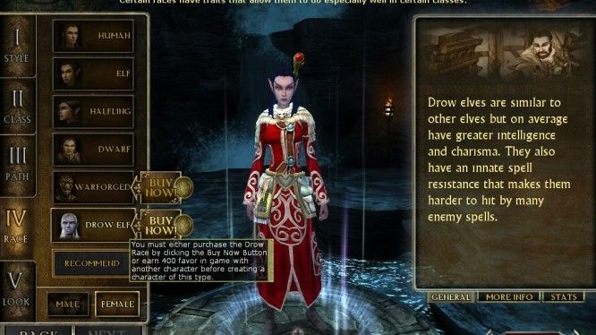 DDO - Character Creation