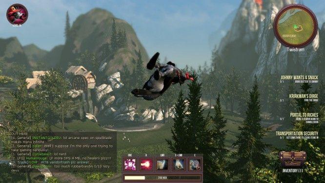 A goat flies through the air.