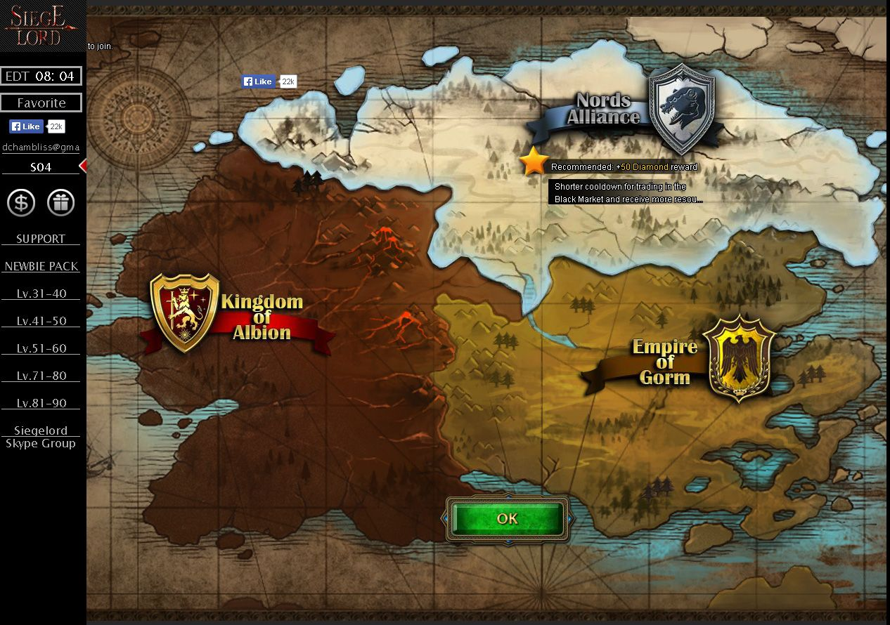siegelord slg browser game fair reviews game you are required to choose your belonging of which kingdom youd like to stay there are three different nations and a very nice looking world map gumiabroncs Gallery