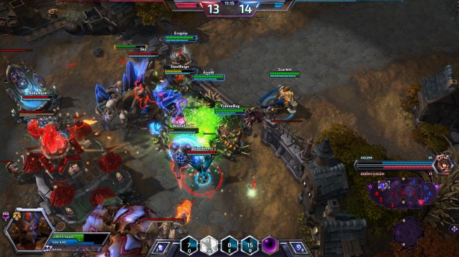 Heroes of the Storm vs League of Legends MOBA Showdown