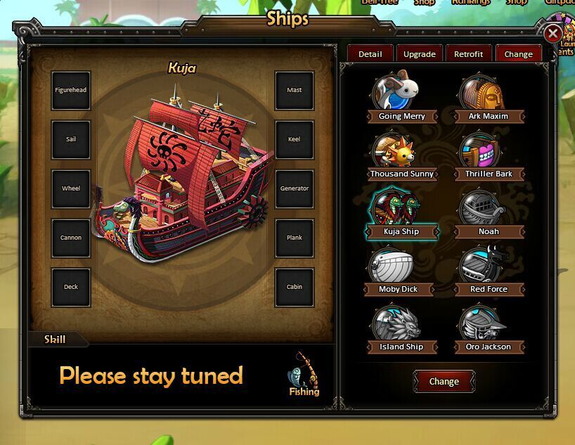 d8baca99614 ... One Piece Online 2 Pirate King Interface ...