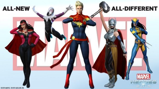 Marvel Heroes All New All Different