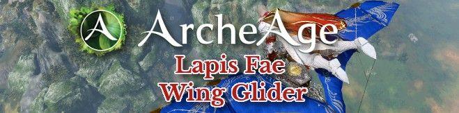 ArcheAge Lapis Fae Wing Glider