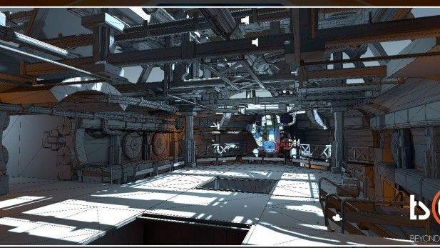 Beyond The Destiny Screenshots Alpha Wireframes Space Ship