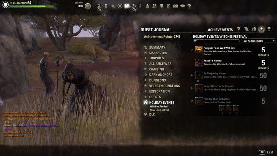 Check the achievement menu to mark your progress.