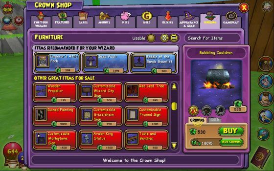 wizard101-buy-structures