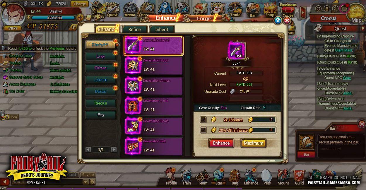 Fairy Tail: Hero's Journey - MMOGames