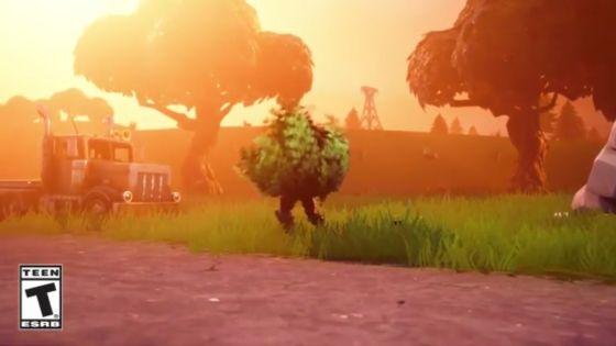 Fortnite Battle Royale Teases a Bush Costume - MMOGames com