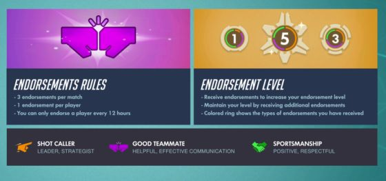 Overwatch Patch 1.25 - Endorsements