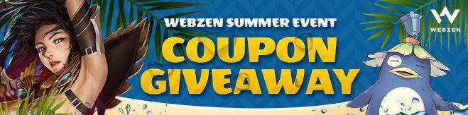 Webzen Summer Event Giveaway
