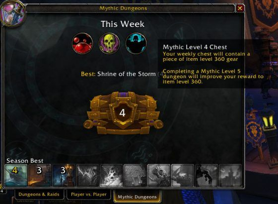 wow Mythic+ dungeon