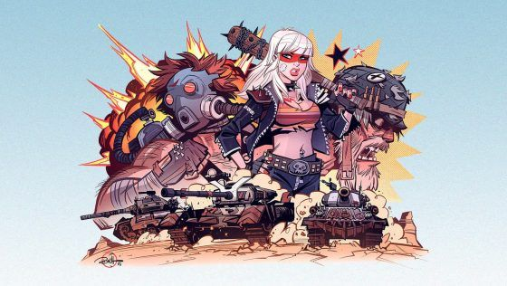 Tank Girl Artist Creates New Mercenaries for World of Tanks Console