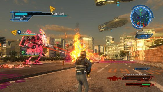 Earth Defense Force 5 four player online coop