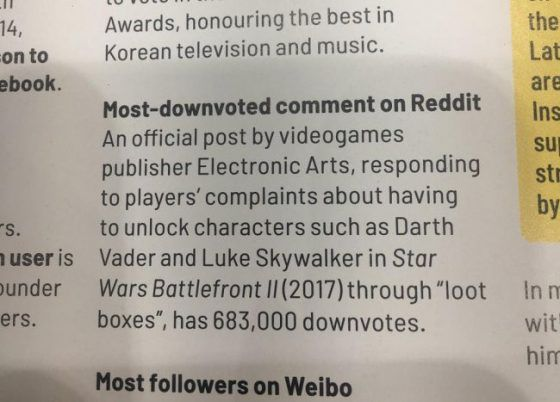 EA Has Been Given a Guinness World Record for Most Downvoted